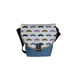 Rickshaw Mini Zero Messenger Bag with Mustache Patterns design
