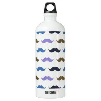 Mustache Pattern w/Handlebar Moustaches SIGG Traveler 1.0L Water Bottle