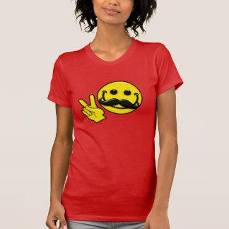 Mustache Peace Smiley T Shirt