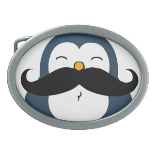 Mustache Penguin Belt Buckle