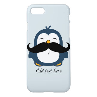Mustache Penguin Custom Text iPhone 8/7 Case