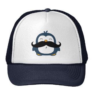 Mustache Penguin Mesh Hats