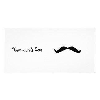 Mustache Photo Card