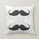 mustache pillows