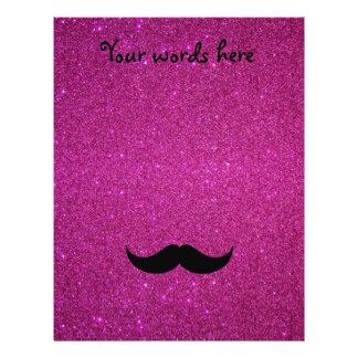 """Mustache pink glitter 8.5"""" x 11"""" flyer"""