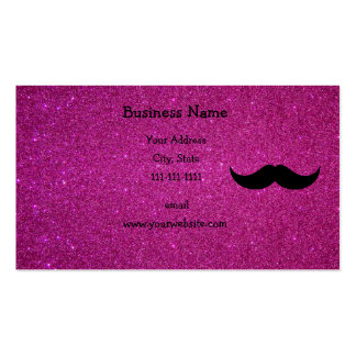 Mustache pink glitter Double-Sided standard business cards (Pack of 100)