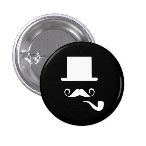 Mustache & Pipe Pictogram Button