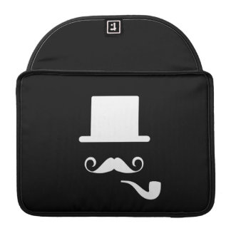 Mustache & Pipe Pictogram MacBook Pro Sleeve