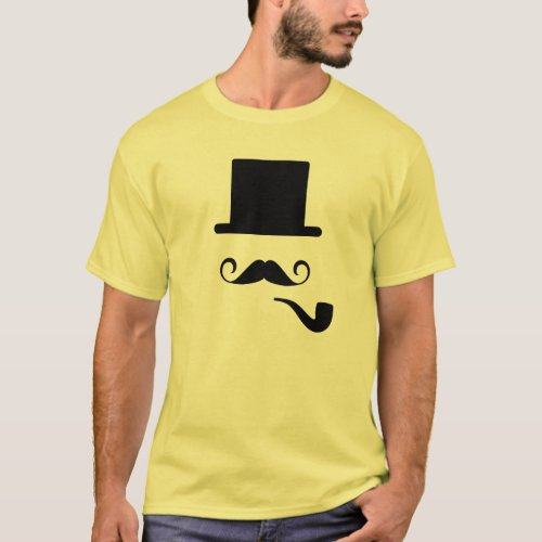 Mustache  Pipe Pictogram T_Shirt