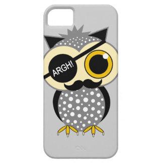 mustache pirate owl iPhone 5 case