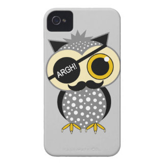 mustache pirate owl iPhone 4 case