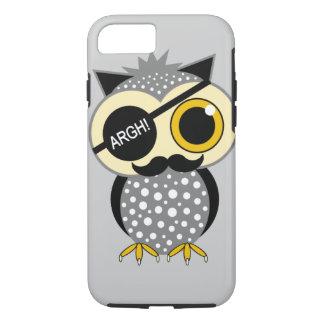 mustache pirate owl iPhone 7 case