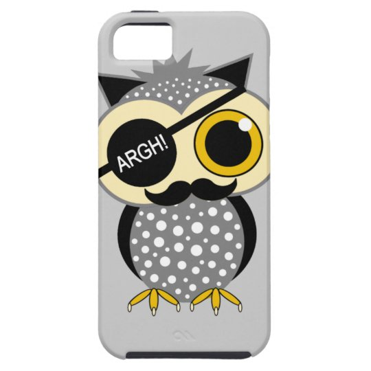 mustache pirate owl iPhone SE/5/5s case
