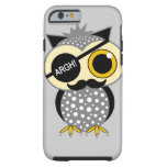 mustache pirate owl tough iPhone 6 case