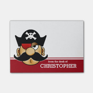 Mustache Pirate Personalized Post-it® Notes