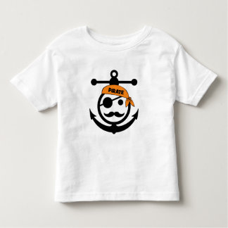 mustache pirate toddler t-shirt