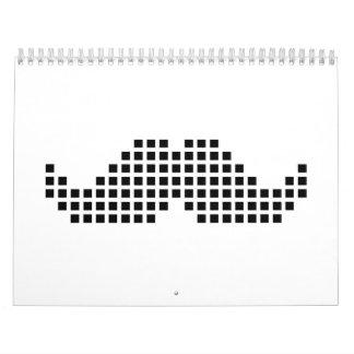Mustache pixel calendar
