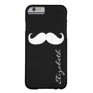 Mustache Plain Black Background iPhone 6 Case