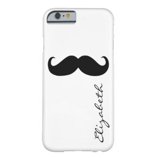 Mustache Plain White Background Barely There iPhone 6 Case