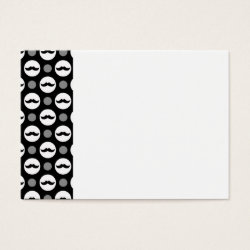 Chubby Business Cards (100-pack) with Mustache Polka Dots design
