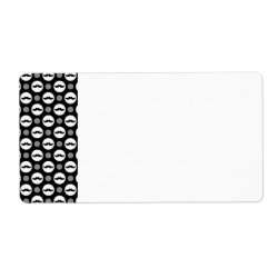 Shipping Label with Mustache Polka Dots design
