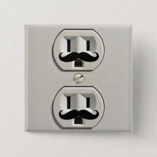 Mustache power outlet button