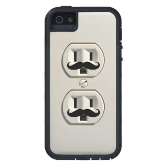 Mustache power outlet iPhone 5 covers
