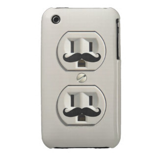 Mustache power outlet Case-Mate iPhone 3 case