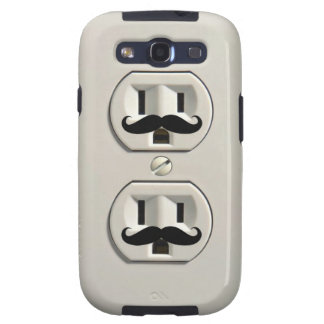 Mustache power outlet galaxy s3 case