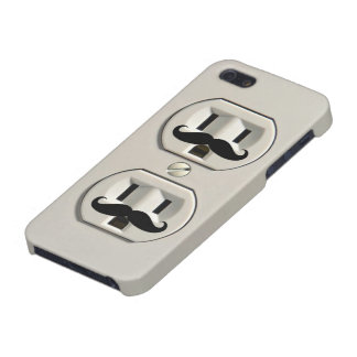 Mustache power outlet case for iPhone SE/5/5s