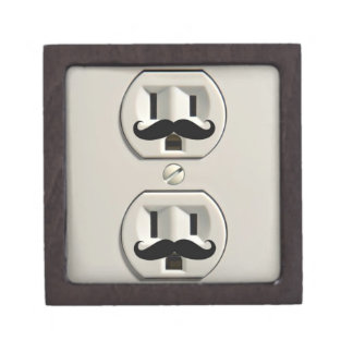 Mustache power outlet gift box