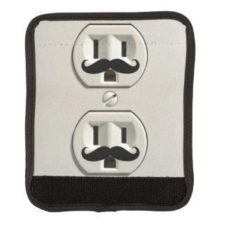 Mustache power outlet handle wrap