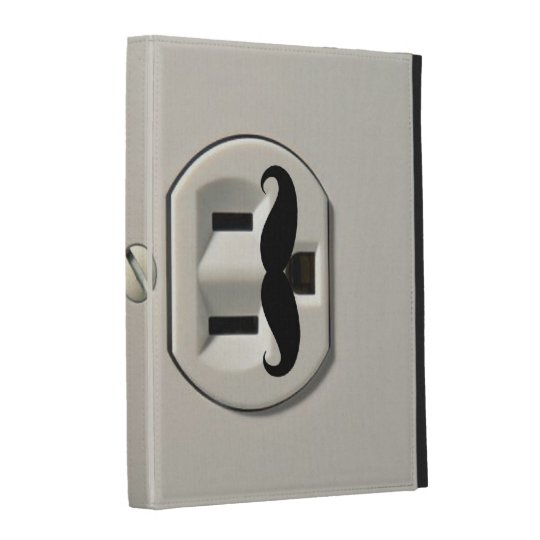 Mustache power outlet iPad folio cover