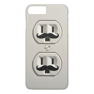 Mustache power outlet iPhone 8 plus/7 plus case