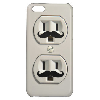 Mustache power outlet cover for iPhone 5C