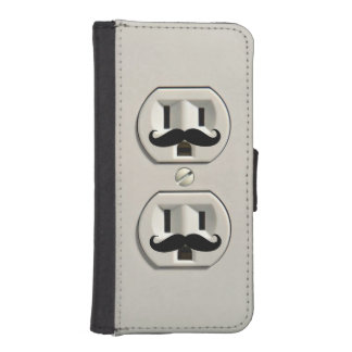 Mustache power outlet iPhone SE/5/5s wallet