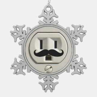 Mustache power outlet ornament