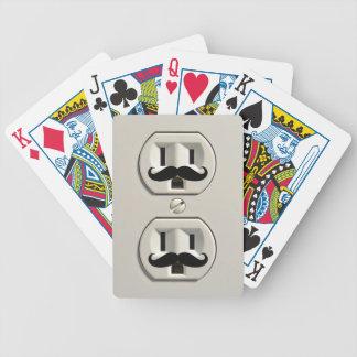 Mustache power outlet card decks