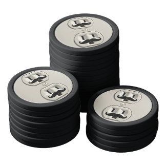 Mustache power outlet poker chips