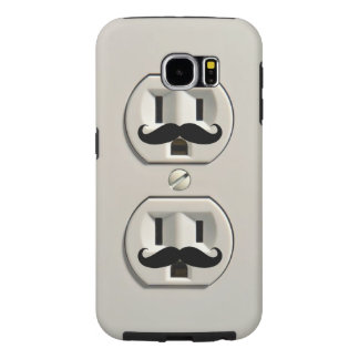 Mustache power outlet samsung galaxy s6 case