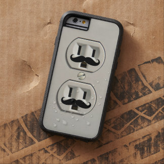 Mustache power outlet tough xtreme iPhone 6 case