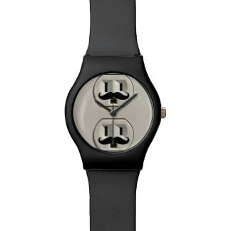 Mustache power outlet watch