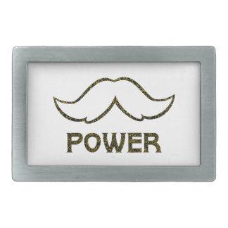 Mustache Power Rectangular Belt Buckle