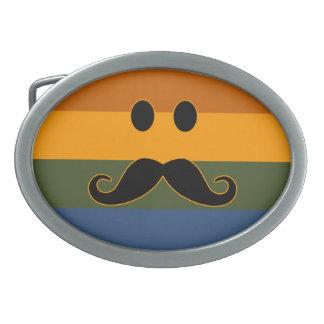 Mustache Pride belt buckle