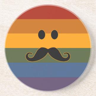 Mustache Pride custom coaster