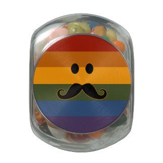 Mustache Pride custom jars & tins Jelly Belly Candy Jar