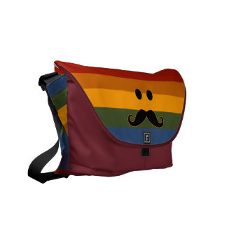 Mustache Pride custom messenger bag