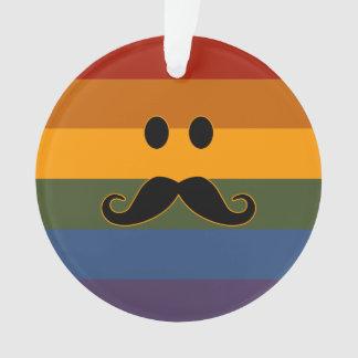 Mustache Pride custom ornament