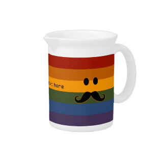 Mustache Pride custom pitcher