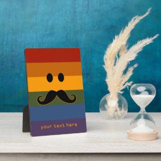 Mustache Pride custom plaque